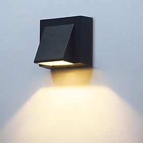 Đèn gắn tường ngoài trời hiện đại hình chữ nhật vát hắt một đầu.