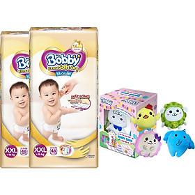 Combo 2 gói Tã/bỉm quần cao cấp Bobby Extra Soft-Dry XXL46 [Tặng hộp đồ bông 5 món đặc biệt Bobby Chan & 4 người bạn]