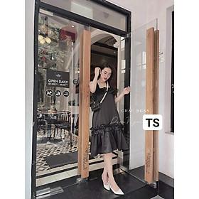 Váy Thiết Kế 2 Dây, váy babydoll hai dây phối bèo trẻ trung  và xinh xắn- H&N Store