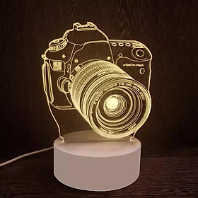 Đèn ngủ 3D MÁY ẢNH, đèn ngủ, đèn trang trí, quà sinh nhật ý nghĩa