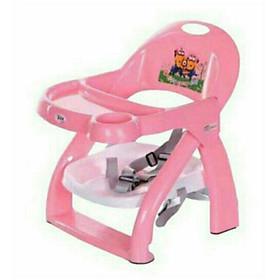 Ghế ăn dặm gấp gọn có bàn ăn có dây bảo hiểm cho bé