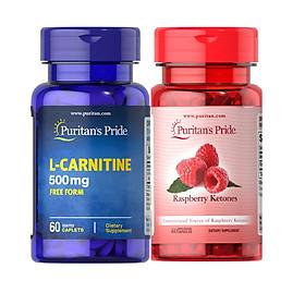 Combo giảm cân TỰ NHIÊN  Raspberry ketone& L-carnitine cho cơ địa khó giảm