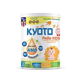 Sữa bột dinh dưỡng Kyoto PEDIA KIDS Giúp trẻ ăn ngon, ngủ ngon, cho hệ tiêu hóa của bé khỏe mạnh, Dành cho trẻ biếng ăn chậm lớn NUTRI PLUS 6-36 tháng -900G