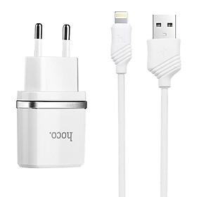 Bộ Adapter Và Cáp Sạc USB Lightning Hoco C12 - Hàng Chính Hãng