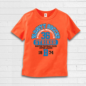 Áo thun bé trai TAMOD màu cam in thể thao cực chất.
