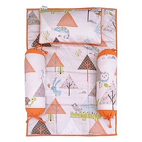 Bộ 4 Món Ga Gối Cho Bé Sleep Baby Pine Forest - F85