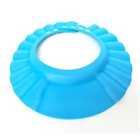 Bộ 2 Nón tắm màu xanh gội đầu chắn nước vô tai mắt cho bé có nút điều chỉnh to nhỏ