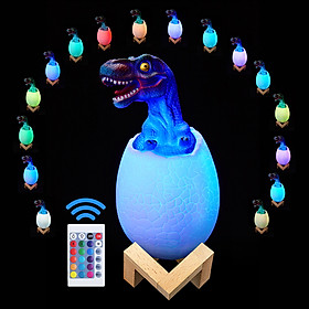 Night Light for KidsNight Light for Kids Dinosaur Lamp 16 Colors with Remote , Pat , Touching Control ,Recharge by USB