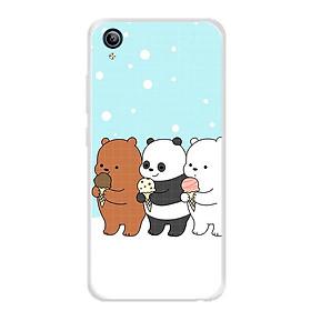 Ốp lưng dẻo cho điện thoại Vivo Y91C - 0094 PANDA03 - Hàng Chính Hãng