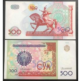 Tiền con ngựa Mã đáo thành công của Uzbekistan 500 sum