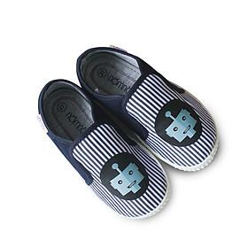 Giày slipon bé trai NomNom EPG1934 kẻ xanh