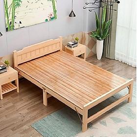 Giường ngủ gỗ thông
