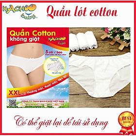 Quần lót cotton XXL (Combo 5 cái) mặc 1 lần ,có thể giặt tái sử dụng, dùng du lịch, mẹ sau sinh hoặc trong những ngày ấy