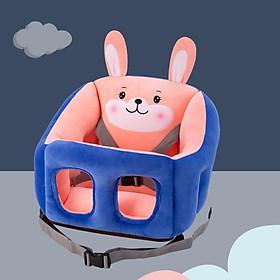 Ghế tập ngồi cho bé vải bông ấm áp an toàn ngồi ăn ngồi xe ô tô - ghe tap ngoi cho be vai bong