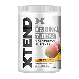 XTEND BCAA của Scivation hương Mango Madness (Xoài) hộp 30 lần dùng hỗ trợ phục hồi cơ bắp, tăng sức bền sức mạnh, đốt mỡ, giảm cân, giảm mỡ bụng cho người tập gym và chơi thể thao