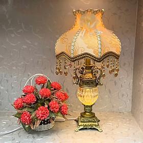 Đèn ngủ - đèn bàn tân cổ điển trang trí phòng ngủ 2 chế độ led MB878