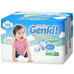 Tã quần Nhật cao cấp Genki (M, 32 miếng)