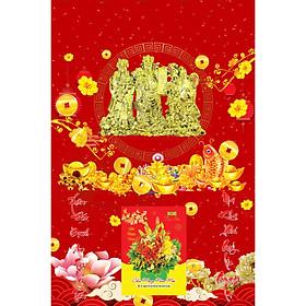 Bìa Laminate 2021 Dán Chữ Nổi (40 X 60 Cm) - Phúc Lộc Thọ