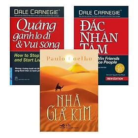 Combo Sách Nhà Giả Kim + Đắc Nhân Tâm (Khổ Lớn) + Quẳng Gánh Lo Đi Và Vui Sống (Tái Bản 2016)