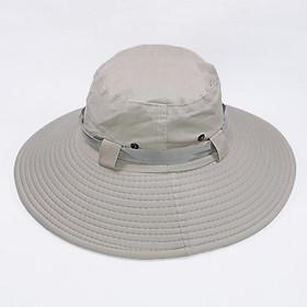 Mũ tai bèo mùa hè xanh tình nguyện, vành rộng 26cm chống nắng tốt, vải kaki thoáng mát