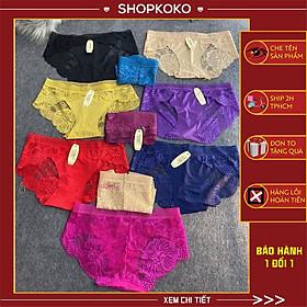 Quần lót nữ ren sexy Quần lót nữ vải ren mềm mại xuyên thấu gợi cảm 10 màu lựa chọn - M8423