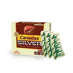 Viên uống bổ gan Canadas Silver - Hộp 60 viên - Hiệu quả cho GAN nhiễm mỡ, men gan cao