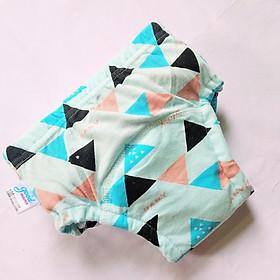 Combo 10 Quần bỏ bỉm vải cotton 6 lớp siêu thấm, thoáng mát hiệu Goodmama cho Bé trai từ 5-17 kg.-8