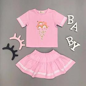 Bộ Váy Thun Bé Gái, Size 3-10, Hàng Made In Vn, Chất Cotton Rất Đẹp, Nhiều Màu Sắc Cho Bé