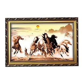 Tranh Con Ngựa - Tranh Bát Mã Truy Phong W644