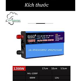 Bộ kích điện ắc quy 12V lên 220V 1200W INVERTER