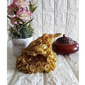 Thiềm thừ ngậm tiền vàng chiêu giữ tài lộc màu đồng sáng - CMD14