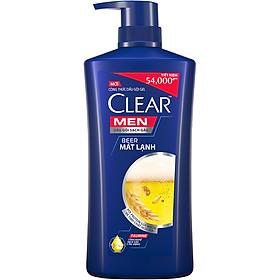 Dầu Gội Sạch Gàu Dành Cho Nam Clear Men Beer Mát Lạnh (650g)