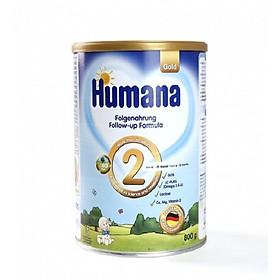 Sữa Humana Gold 2 800 g : sữa công thức cho bé từ 6-12 tháng tuổi