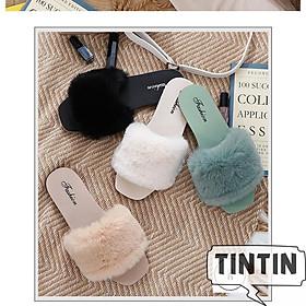 Dép lông đế dẻo cực sang chảnh TINTIN DNL06