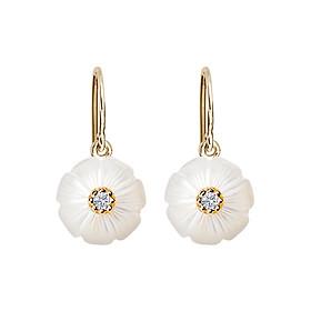Bông Tai Galatea Jewelry Momento Talking Pearl MO-41EYW - Trắng