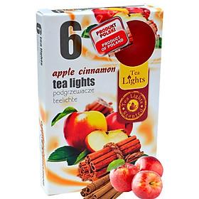 Hộp 6 nến thơm tinh dầu Tealight Admit Apple Cinnamon QT026121- hương táo, quế