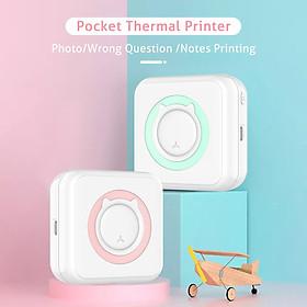 Máy in nhiệt không dây bỏ túi mini BT độ phân giải 200dpi có thể in nhãn/ảnh/câu hỏi/bản ghi nhớ (Tặng kèm 1 cuộn giấy)