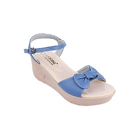 Giày Sandal Nữ Da Bò Huy Hoàng HT7041 - Xanh