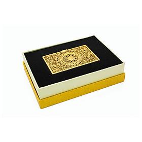 Quà tặng sếp ý nghĩa: Hộp đựng Name card mạ vàng 24K