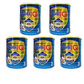 Bộ 5 lon sữa Nuti IQ Gold 3 1.5kg (mới) - Phát triển não bộ và thị giác, Tăng cường sức đề kháng, Phát triển cân nặng - chiều cao, Tiêu hoá - hấp thu tốt, Ngăn ngừa táo bón