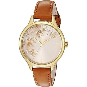 Timex Women's TW2R66600 Crystal Bloom Pink/Silver Floral Accent Leather Strap Watch