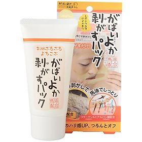 Mặt Nạ Gel Lột Mụn Nhật Bản (Loại Mạnh) Gabaiyoka Face Peel Pack Tinh Chất Nhau Thai, Dầu Ngựa, Loại Bỏ Mụn Cám, Lông Măng, Tế Bào Chết, Dưỡng Ẩm, Săn Chắc Da Nhờ Vitamin E, Hyaluronic Acid HA, Collagen