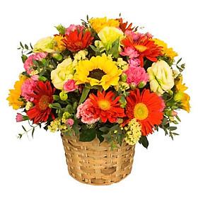 Giỏ hoa tươi - Khởi sự thành công 3988