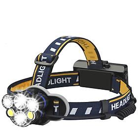 Đèn Pin Đeo Đầu Sạc Điện 02 Pin Lithium 06 Bóng LED eLights TD-622