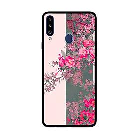 Ốp Lưng Dành Cho Samsung Galaxy A20s mẫu Hoa Đào Nở Rộ - Hàng Chính Hãng