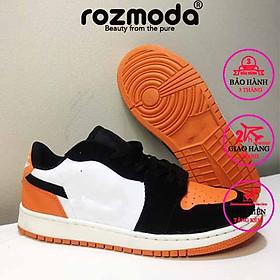 Giày thể thao nam sneaker cao cấp cổ thấp trẻ trung năng động cam đen Rozmoda GI30