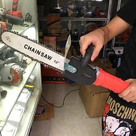 Lưỡi cưa xích gắn máy mài cầm tay, bộ dụng cụ chuyển đổi máy mài thành máy cưa gỗ mini