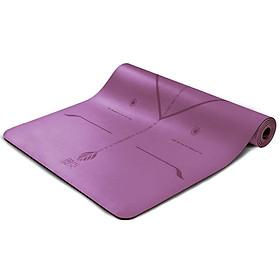 Thảm Tập Yoga Austrian Bằng Cao Su Tự Nhiên Chống Trượt Và Chống Ẩm Kèm Túi Đựng (183x68CM) (Dày 5mm)