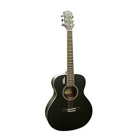 Đàn Guitar Acoustic Rosen Mini Mầu Đen Nhám ( Solid Top)