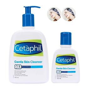 Combo 2 Sữa Rửa Mặt Cetaphil Gentle Skin Cleanser 125ml Và 500ml + Tặng Kèm 2 Mũ Trùm Đầu Khi Tắm Hoặc Ủ Tóc Trong Suốt